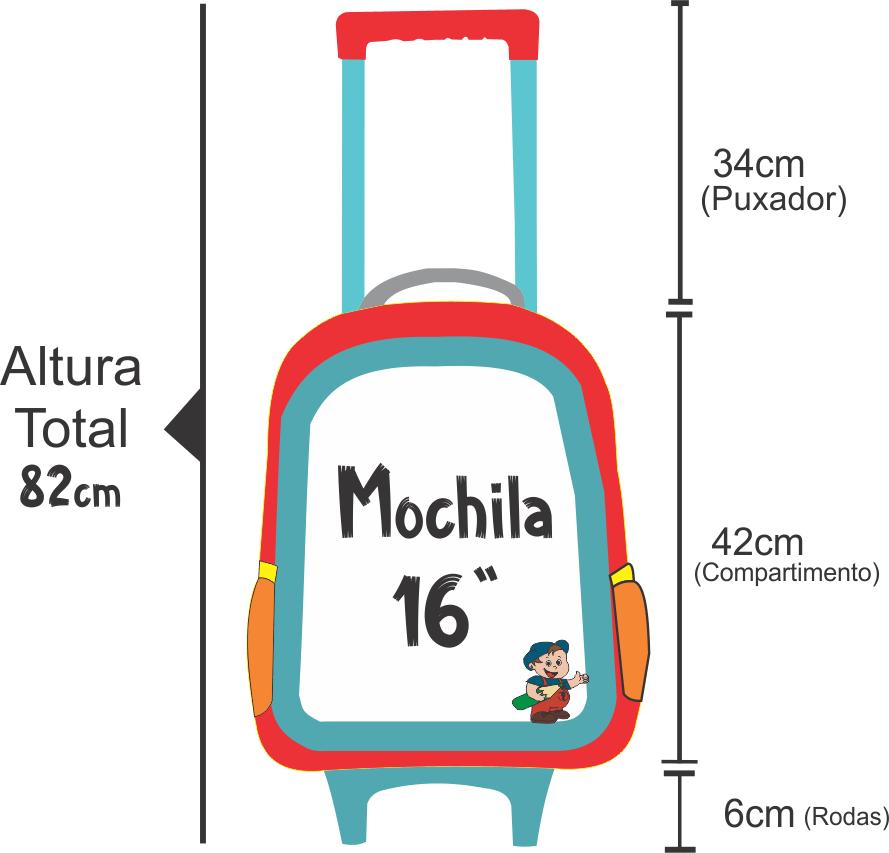 medidas da altura da mochila de rodinha shopkins