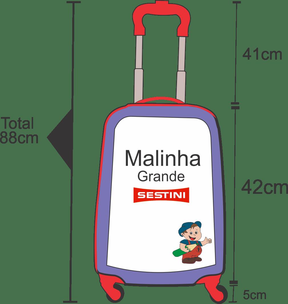 Medidas da altura da malinha sestini