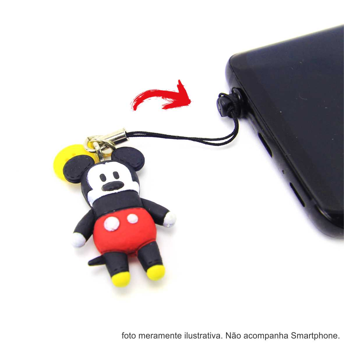 Demonstração do chaveiro plug do mickey