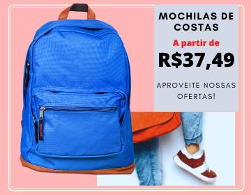 mochilas de costas juvenil e infantil baratas promocao volta as aulas a partir de R$37,49