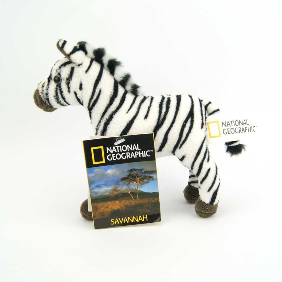 Pelúcia Zebra National Geographic Baby Savana 16cm