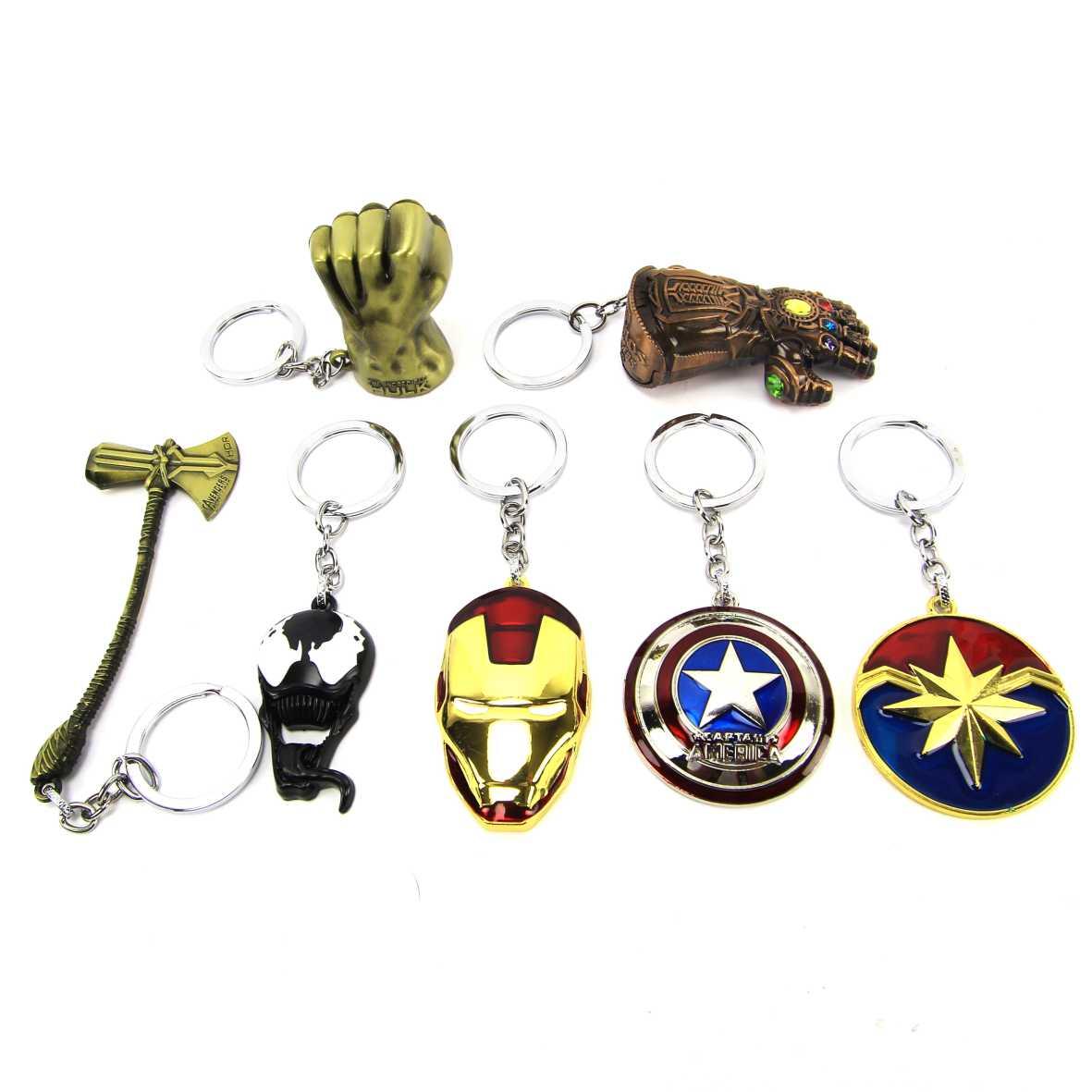 Chaveiro Original Marvel Vingadores Avengers DMW - Kit com 7 Modelos
