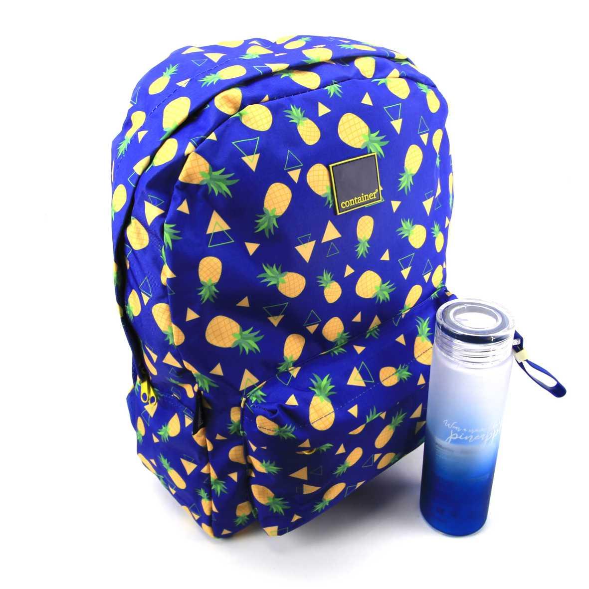 Mochila Pineapple Container com Garrafa Plástica Dermiwil 37726