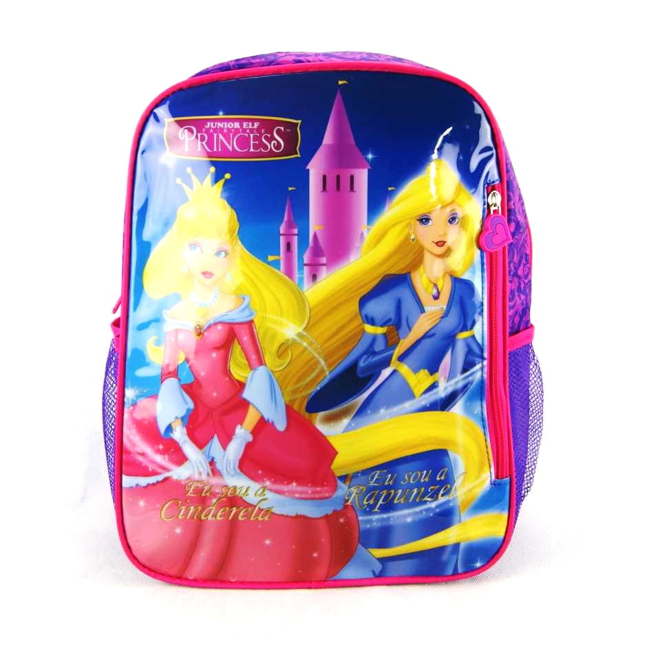 Mochila Cinderela e Rapunzel Princesas Junior Elf ref IS31001PR Luxcel