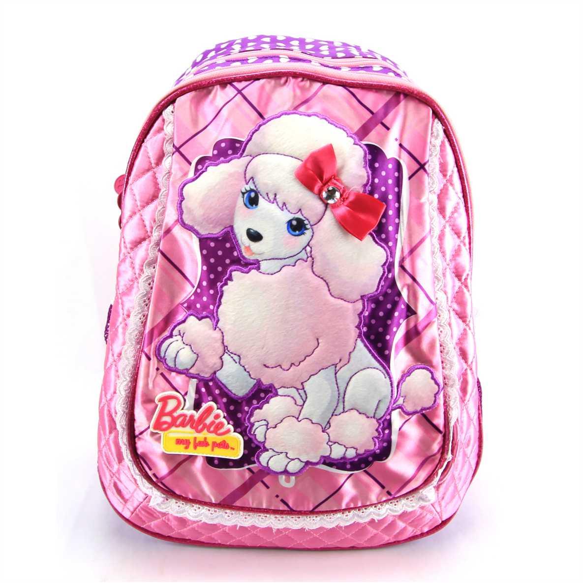 Mochila Barbie My Pets Infantil Costas Sestini 063215 Rosa