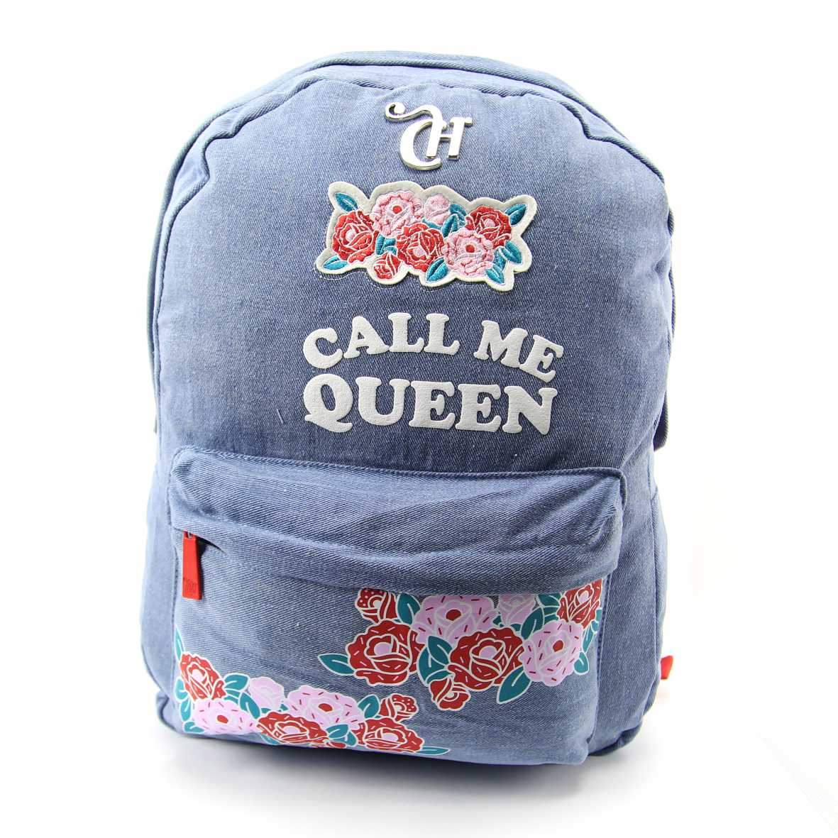Mochila Capricho de Costas Jeans Feminino Call me Queen DMW 11291