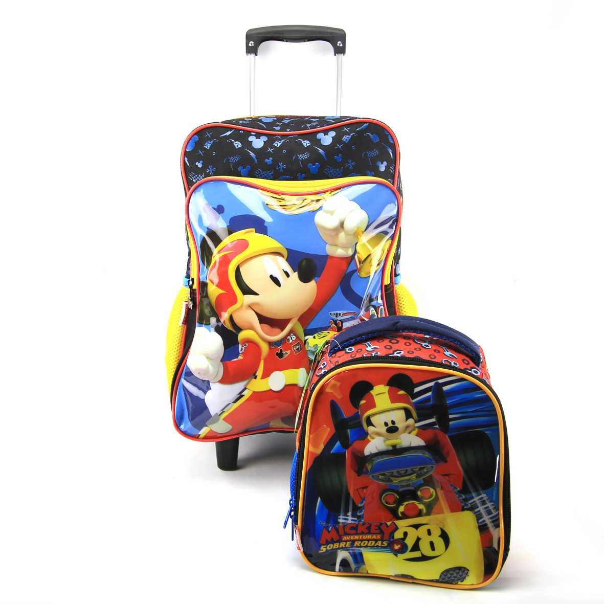 Mochila de Rodinha Mickey G com Lancheira Sestini 065322 Disney