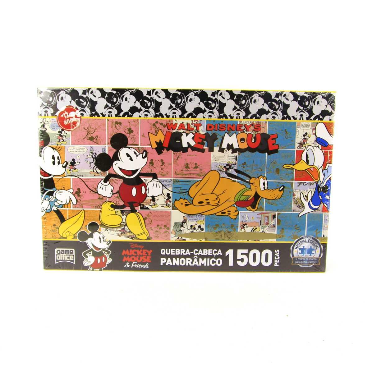 Quebra Cabeça Panorâmico Mickey Mouse e Friends 1500 peças Game Office 2715