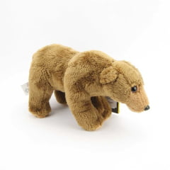 Pelúcia Urso Cinzento National Geographic Baby América 10cm