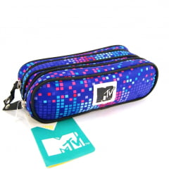 Estojo Escolar MTV Colors Duplo ref 48767 DMW