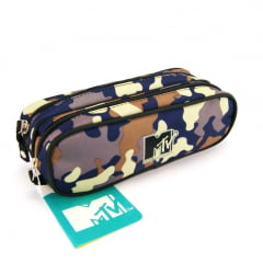 Estojo Escolar MTV Camuflagem Duplo ref 48771 DMW