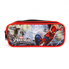 Estojo Escolar Spider-Man Web Warriors Duplo ref 9048062015 Tilibra