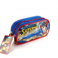 Estojo Escolar Superman Azul Duplo ref EI31266SM Luxcel