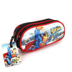 Estojo Escolar Superman Preto Duplo ref EI31154SM Luxcel
