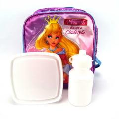 Lancheira Cinderela Princesas Junior Elf Roxo ref LA31833PR Luxcel