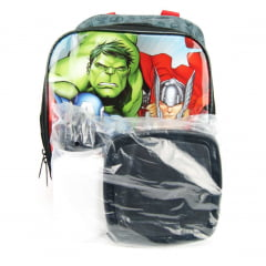 Lancheira Vingadores com Estojo Duplo Kit Marvel Xeryus 7094