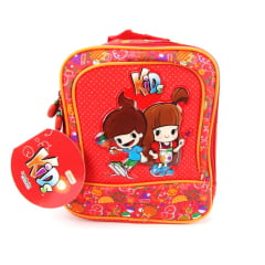 Lancheira Kids Vermelho 07201269 Tilibra