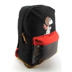 Mochila Snoopy Peanuts Costas Juvenil Luxcel MS45882SN-PT Preto