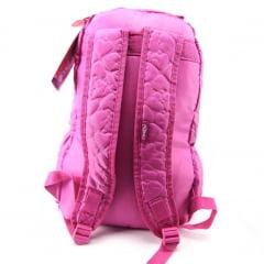Mochila Capricho de Costas Feminina Pink Coração DMW 48902