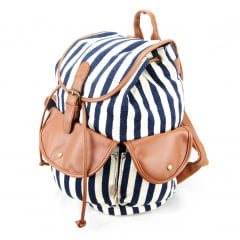 Mochila com Tampa Up4you Listras Luxcel MS45461UP