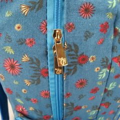 Mochila da Capricho Azul Borboletas e Flores DMW 11006
