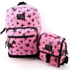 Mochila Larissa Manoela Up4you Juvenil com Lancheira Luxcel MS45699UP