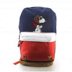 Mochila Snoopy Peanuts Costas Juvenil Luxcel MS45882SN-AZ Azul