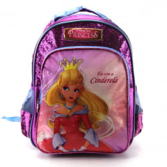 Mochila Infantil Princesas Efl Junior Costas Luxcel Roxo IS31831PR