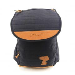 Mochila para Notebook do Snoopy Preta de Costas Luxcel MJ48374SN