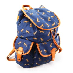 Mochila com Tampa Up4you Raposas ref MS45388UP Luxcel