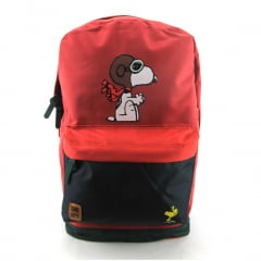 Mochila Snoopy Peanuts Costas Juvenil Luxcel MS45882SN-VM Vermelho