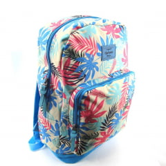 Mochila Up4you Tropical Azul de Costas Feminina Luxcel MS45567UP-TQ