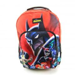 Mochila Batman Teen Juvenil Dc Comics Xeryus 9070 Vermelho