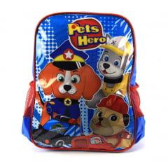 Mochila Infantil Pets Hero Costas Azul Luxcel IS32721PH