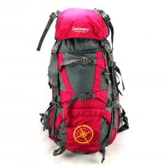 Mochila Camping Cargueira Discovery Adventures Vinho 60 litros ref MS45358DV Luxcel