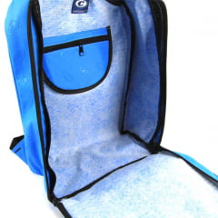Mochila Company Azul Turquesa Emborrachada