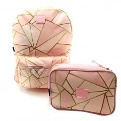 Mochila Container Polígonos com Estojo Box Dermiwil 37702
