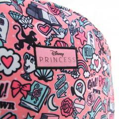 Mochila Disney Princesa Teen com Estojo Elástico e Chaveiro Plug Dermiwil 37848