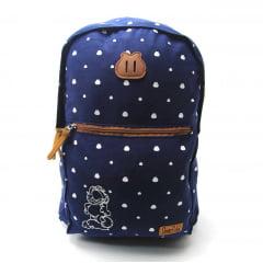Mochila Garfield para Notebook Costas Azul Luxcel MJ48693GF-AZ