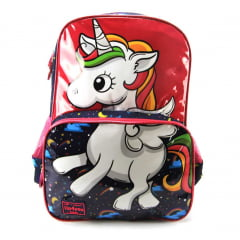 Mochila Up4you Unicórnio Infantil Costas Luxcel IS33061UP-BR