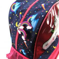 Mochila Up4you Unicórnio Infantil Costas Luxcel IS33061UP-BR