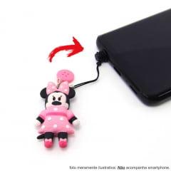 Mochila Minnie Costas Disney Tsum Tsum com Chaveiro Plug Luxcel MJ48360TS