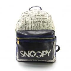 Mochila Snoopy Peanuts Costas Azul Luxcel MS45807SN-AZ
