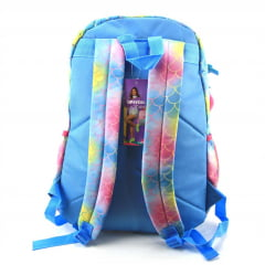 Mochila Up4you Maisa Costas Pom Pom Juvenil Luxcel MJ48650UP