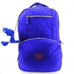 Mochila Up4you Costas para Notebook e Chaveiro de Pelúcia Dino Cor Azul Luxcel MJ48356UP