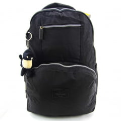 Mochila Up4you Costas para Notebook e Chaveiro de Pelúcia Dino Cor Preto Luxcel  MJ48356UP
