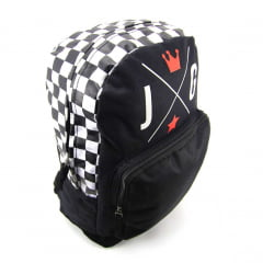 Mochila Up4you Xadrez Preta Luxcel MS45696UP