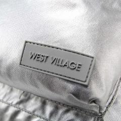 Mochila West Village Metalizada Prata com Lancheira Tilibra 6618