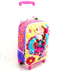 Mochila de Rodinha Judy Pink Girl ref 062710 Sestini - Mochilete Escolar Infantil