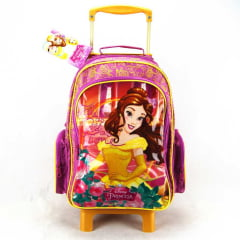 Mochila de Rodinha Princesa Bela e a Fera Disney ref 36912 Dermiwil